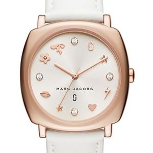 MARC JACOBS Mandy Rose Gold White Leather watch